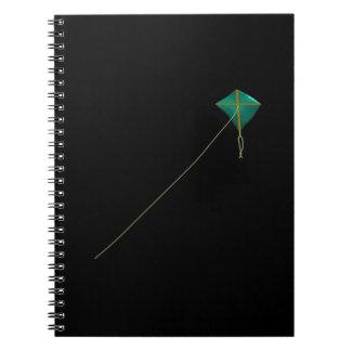 Cometa verde libros de apuntes con espiral