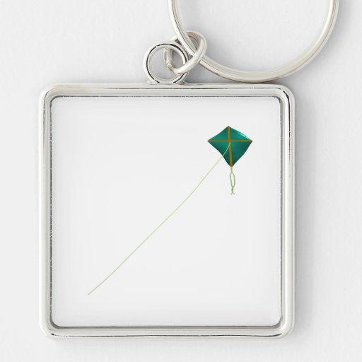 Cometa verde llavero personalizado