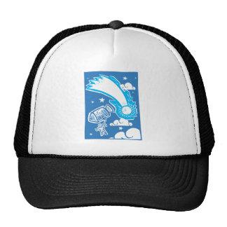Cometa y astronauta gorras de camionero