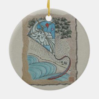 Cometa y Sr. viento del norte Ornaments Para Arbol De Navidad