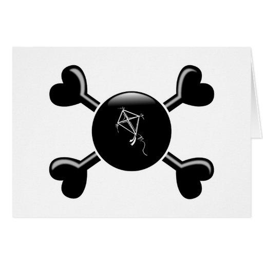 Cometas de la bandera pirata felicitación