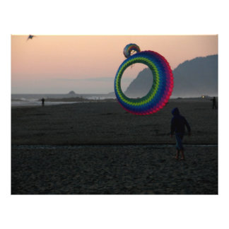 Cometas de la costa tarjeta publicitaria