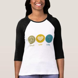 Cometas del amor de la paz camiseta