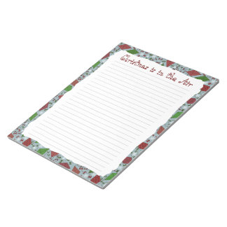 Cometas del navidad, libreta bloc de notas