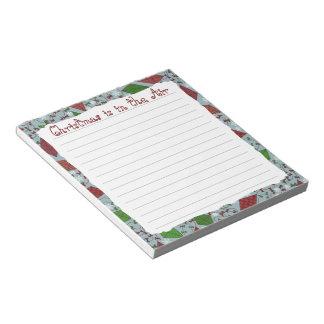 Cometas del navidad, libreta bloc de papel