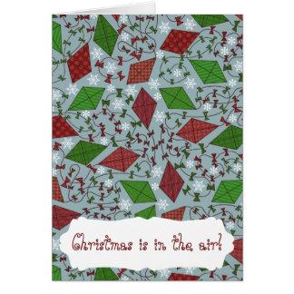 Cometas del navidad, tarjeta de felicitación