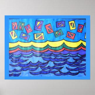 Cometas del océano poster