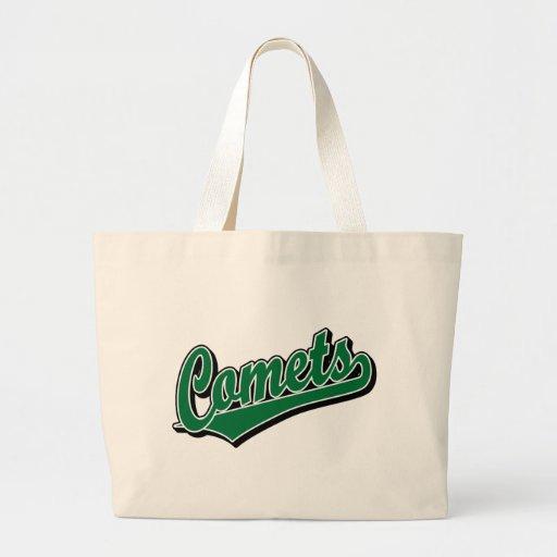 Cometas en verde bolsa de mano