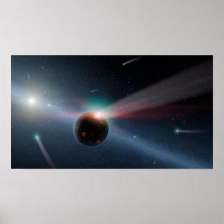 Comets Around Eta Corvi NASA Poster