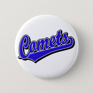 Comets in Blue Pinback Button