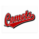 Comets in Red Post Card