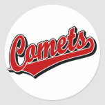 Comets in Red Sticker