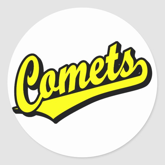 Comets in Yellow Classic Round Sticker