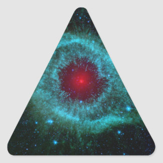 Comets Kick Up Dust in Helix Nebula Triangle Stickers