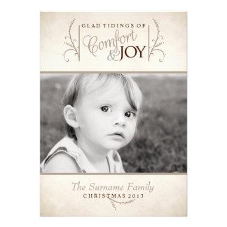 Comfort and Joy Christmas Photo Card