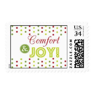 Comfort and Joy Christmas Postcard Stamp Postage