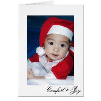 Comfort and Joy Simple Elegant Christmas Card