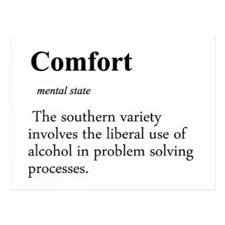 Comfort Definition Postcard