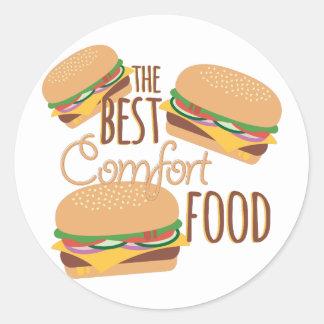 Comfort Food Classic Round Sticker