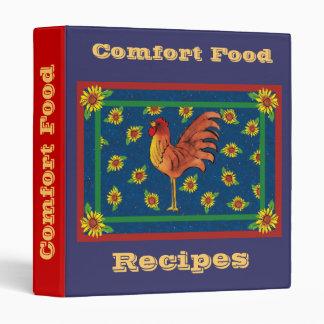 Comfort Food-Recipes 3 Ring Binders
