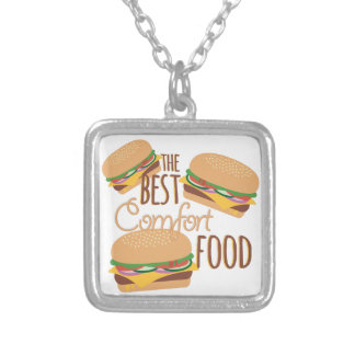 Comfort Food Square Pendant Necklace