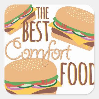Comfort Food Square Sticker