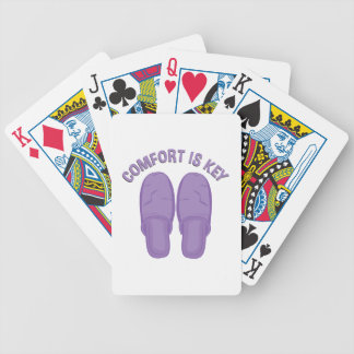 Comfort Is Key Bicycle Playing Cards