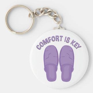 Comfort Is Key Keychain