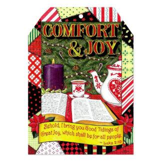 Comfort & Joy Christmas Card & Gift Tag