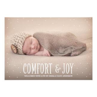Comfort & Joy | Holiday Birth Announcement
