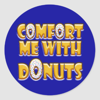 Comfort Me With Donuts Classic Round Sticker