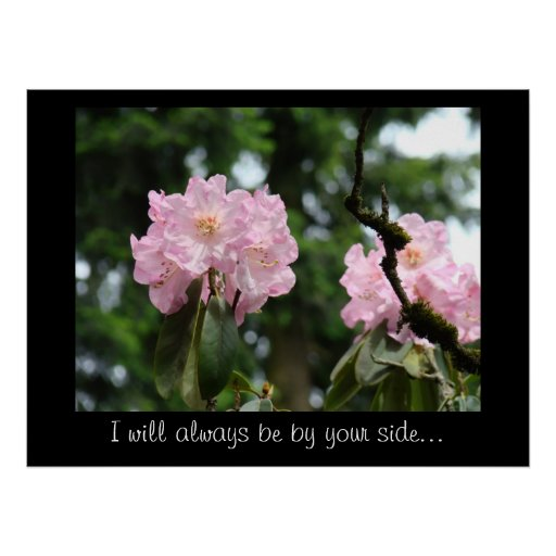 Comfort Support art Always by your side Floral Poster