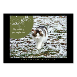 Comfort Zone Life Lessons from a Cat ACEO Art Card Business Card Template