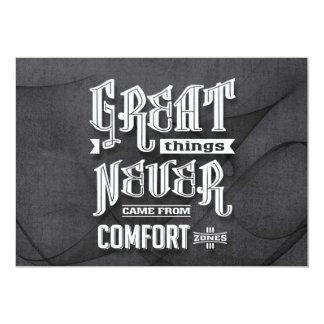 Comfort Zones - Motivational Quotes. Card