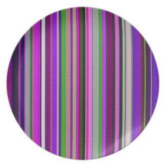 Comfortable Stripes Purple Dinner Plate