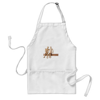 Comforting a friend aprons