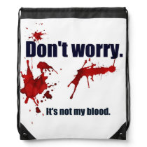 Comforting and unsettling. drawstring backpack
