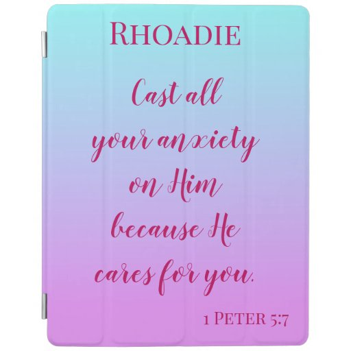 Comforting Bible verse on anxiety iPad Smart Cover
