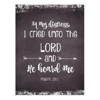 Comforting Psalms Bible Verse Postcard
