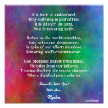 Comforting Trust In His Love Poster-Customize