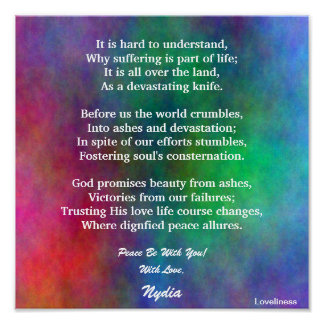 Comforting Trust In His Love Poster-Customize Poster