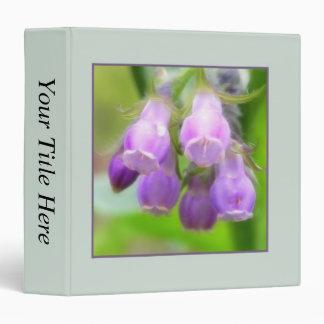 Comfrey Flowers 3 Ring Binder