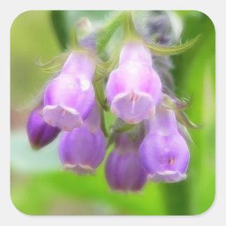Comfrey Flowers Square Sticker
