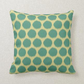Comfrey Green Resort Moods Ikat Dots Pillow
