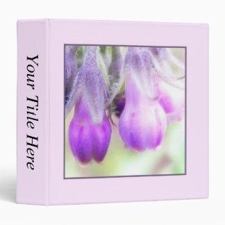Comfrey Herb - Flowers 3 Ring Binder