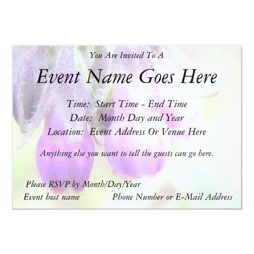 "Comfrey Herb - Flowers 5"" X 7"" Invitation Card"