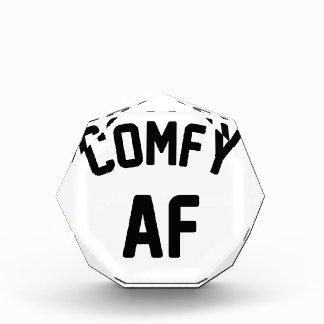 Comfy AF Acrylic Award