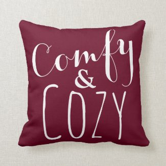 Comfy and Cozy Decor - A Burgundy Red Throw Pillow