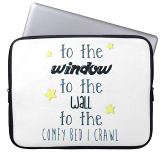 Comfy Bed, Funny Sleeping Quote Computer Sleeve