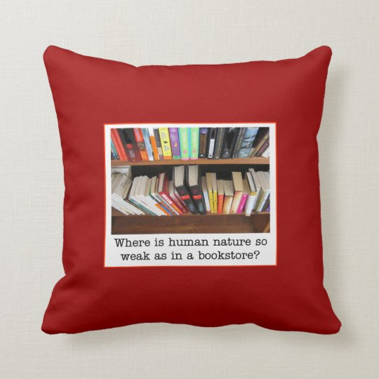 comfy book themed pillow